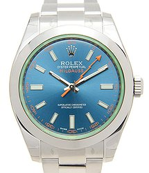 Rolex Milgauss Stainless Steel Blue Automatic 116400GVBL