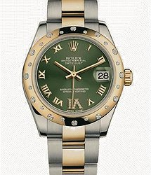 Rolex Oyster DATEJUST GREEN ROMAN DIAMOND
