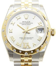 Rolex Oyster Perpetual 18kt Gold & Diamond & Steel Silver Automatic 178343SVVIDIA