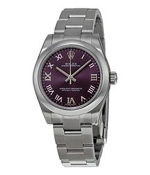 Rolex Oyster Perpetual 31 mm Puple Dial Stainless Steel Bracelet Automatic Ladies Watch