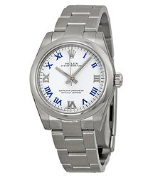 Rolex Oyster Perpetual 31 mm White Dial Stainless Steel Bracelet Automatic Ladies Watch