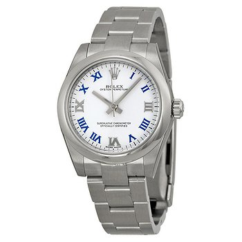 Купить часы Rolex Oyster Perpetual 31 mm White Dial Stainless Steel Bracelet Automatic Ladies Watch  в ломбарде швейцарских часов