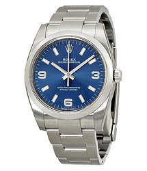 Rolex Oyster Perpetual 34 Blue Dial Stainless Steel Bracelet Automatic Men's Watch