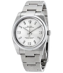 Rolex Oyster Perpetual 34 Silver Dial Stainless Steel Bracelet Automatic Men's Watch