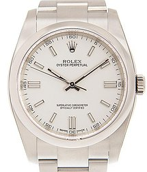 Rolex Oyster Perpetual 36 Automatic Chronometer White Dial Men's Watch