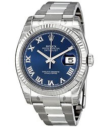 Rolex Oyster Perpetual 36 mm Automatic Blue Dial Stainless Steel Bracelet Ladies Watch
