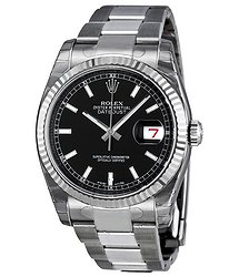 Rolex Oyster Perpetual 36 mm Black Dial Stainless Steel Bracelet Automatic Men's Watch BKSO