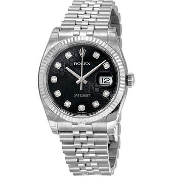 Купить часы Rolex Oyster Perpetual 36 mm Black Dial Stainless Steel Jubilee Bracelet Automatic Men's Watch  в ломбарде швейцарских часов