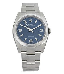 Rolex Oyster Perpetual 36 mm Blue Dial Stainless Steel Bracelet Automatic Men's Watch