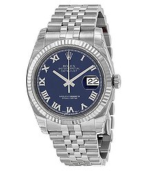 Rolex Oyster Perpetual 36 mm Blue Dial Stainless Steel Jubilee Bracelet Automatic Men's Watch 116234BLRJ