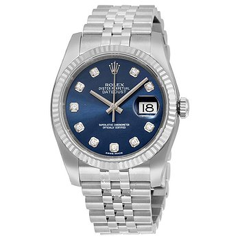 Купить часы Rolex Oyster Perpetual 36 mm Blue Dial Stainless Steel Jubilee Bracelet Automatic Men's Watch  в ломбарде швейцарских часов