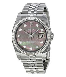Rolex Oyster Perpetual 36 mm Dark Mother of Pearl Dial Stainless Steel Jubilee Bracelet Automatic Men's Watch