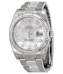 Rolex Oyster Perpetual 36 mm Mother of Pearl Dial Stainless Steel Bracelet Automatic Unisex Watch