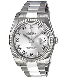 Rolex Oyster Perpetual 36 mm Rhodium Dial Stainless Steel Bracelet Automatic Men's Watch RRO