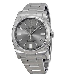 Rolex Oyster Perpetual 36 mm Rhodium Dial Stainless Steel Bracelet Automatic Men's Watch