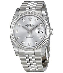 Rolex Oyster Perpetual 36 mm Rhodium Dial Stainless Steel Jubilee Bracelet Automatic Men's Watch