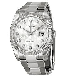 Rolex Oyster Perpetual 36 mm Silver Dial Stainless Steel Bracelet Automatic Ladies Watch