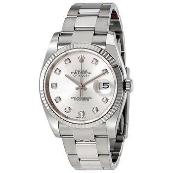 Купить часы Rolex Oyster Perpetual 36 mm Silver Dial Stainless Steel Bracelet Automatic Men's Watch  в ломбарде швейцарских часов