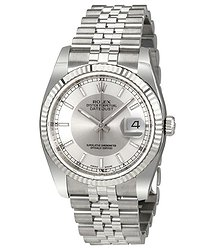 Rolex Oyster Perpetual 36 mm Silver Dial Stainless Steel Jubilee Bracelet Automatic Men's Watch