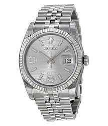 Rolex Oyster Perpetual 36 mm Silver Dial Stainless Steel Jubilee Bracelet Automatic Unisex Watch