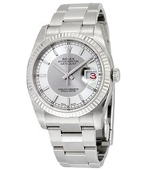 Rolex Oyster Perpetual 36 mm Silver Rhodium Dial Stainless Steel Bracelet Automatic Ladies Watch