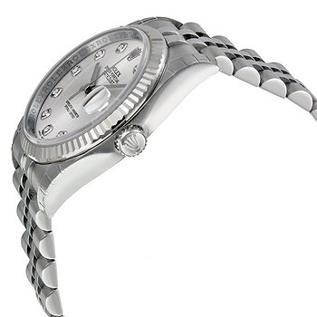 Купить часы Rolex Oyster Perpetual 36 mm Silver With 10 Diamonds Dial Stainless Steel Jubilee Bracelet Automatic Men's Watch 116234SDJ  в ломбарде швейцарских часов
