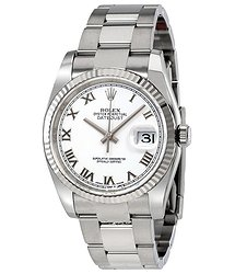 Rolex Oyster Perpetual 36 mm White Dial Stainless Steel Bracelet Automatic Men's Watch