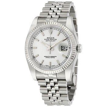 Купить часы Rolex Oyster Perpetual 36 mm White Dial Stainless Steel Jubilee Bracelet Automatic Men's Watch  в ломбарде швейцарских часов