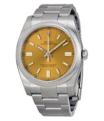 Rolex Oyster Perpetual 36 mm White Grape Dial Stainless Steel Bracelet Automatic Men's Watch