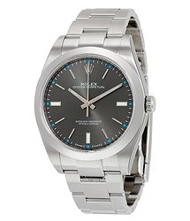 Rolex Oyster Perpetual 39 Dark Rhodium Dial Stainless Steel Bracelet Automatic Men's Watch
