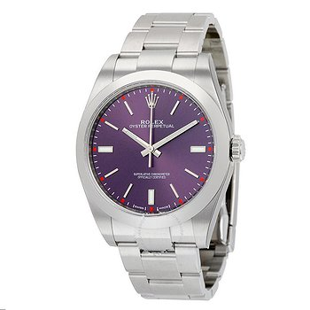 Купить часы Rolex Oyster Perpetual 39 Red Grape Dial Stainless Steel Bracelet Automatic Men's Watch  в ломбарде швейцарских часов