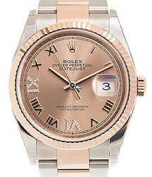 Rolex Oyster Perpetual Date 18kt Rose Gold & Steel Gold Automatic 126231SUNDUSTVIIX-DIA_O