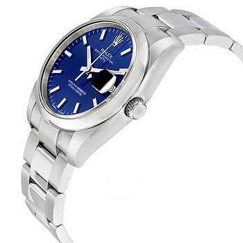 Купить часы Rolex Oyster Perpetual Date 34 Blue Dial Stainless Steel Bracelet Automatic Men's Watch  в ломбарде швейцарских часов