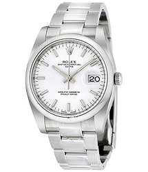 Rolex Oyster Perpetual Date 34 White Dial Stainless Steel Bracelet Automatic Men's Watch