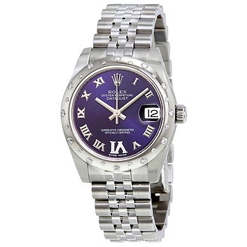 Купить часы Rolex Oyster Perpetual Datejust 31 Purple Dial Stainless Steel Jubilee Bracelet Automatic Ladies Watch  в ломбарде швейцарских часов