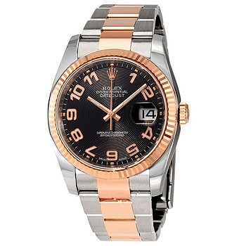 Купить часы Rolex Oyster Perpetual Datejust 36 Black Concentric Dial Stainless Steel and 18K Everose Gold Bracelet Automatic Men's Watch  в ломбарде швейцарских часов