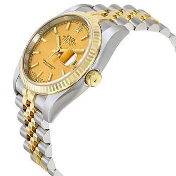 Купить часы Rolex Oyster Perpetual Datejust 36 Champagne Dial Stainless Steel and 18K Yellow Gold Jubilee Bracelet Automatic Men's Watch 116233CSJ  в ломбарде швейцарских часов