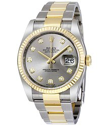Rolex Oyster Perpetual Datejust 36 Grey Dial Stainless Steel and 18K Yellow Gold Bracelet Automatic Men's Watch