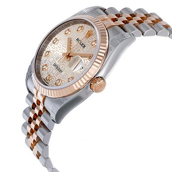 Купить часы Rolex Oyster Perpetual Datejust 36 Silver Dial Stainless Steel and 18K Everose Gold Jubilee Bracelet Automatic Men's Watch  в ломбарде швейцарских часов
