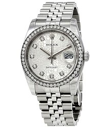 Rolex Oyster Perpetual Datejust 36 Silver Dial Stainless Steel Jubilee Bracelet Automatic Men's Watch