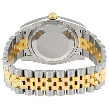 Купить часы Rolex Oyster Perpetual Datejust 36 Silver Floral Motif Dial Stainless Steel and 18K Yellow Gold Jubilee Bracelet Automatic Unisex Watch  в ломбарде швейцарских часов
