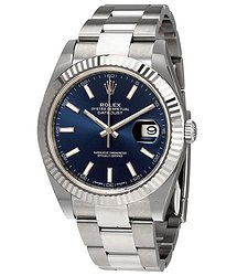 Rolex Oyster Perpetual Datejust 41 Blue Dial Automatic Men's Watch