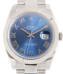 Rolex Oyster Perpetual Datejust Automatic Blue Dial Men's Watch