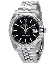 Rolex Oyster Perpetual Datejust Black Dial Jubilee Men's Watch