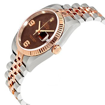 Купить часы Rolex Oyster Perpetual Datejust Chocolate Floral Motif Dial Automatic Ladies Stainless Steel and 18kt Everose Gold Watch  в ломбарде швейцарских часов