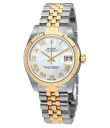 Rolex Oyster Perpetual Datejust Mother Of Pearl Dial Automatic Ladies Jubilee Watch