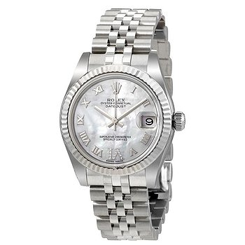 Купить часы Rolex Oyster Perpetual Datejust Mother of Pearl Dial Automatic Ladies Watch  в ломбарде швейцарских часов