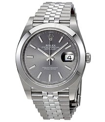 Rolex Oyster Perpetual Datejust Rhodium Dial Automatic Men's Jubilee Watch