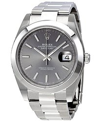 Rolex Oyster Perpetual Datejust Rhodium Dial Automatic Men's Watch