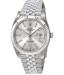 Rolex Oyster Perpetual Datejust Silver Dial Automatic Men's Watch